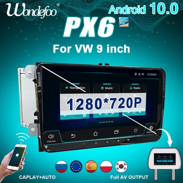 CAR Radio 2 din Android 10 stereo for Volkswagen VW PASSAT B6 B7 Golf 5 6 BORA Fabia Rapid Seat Leon Altea 2din auto audio FR