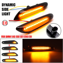 For BMW E90 E91 E92 E93 E60 E87 E82 E61 Dynamic LED Blinker Turn Signal Light Side Marker Indicator Mirror Repeater