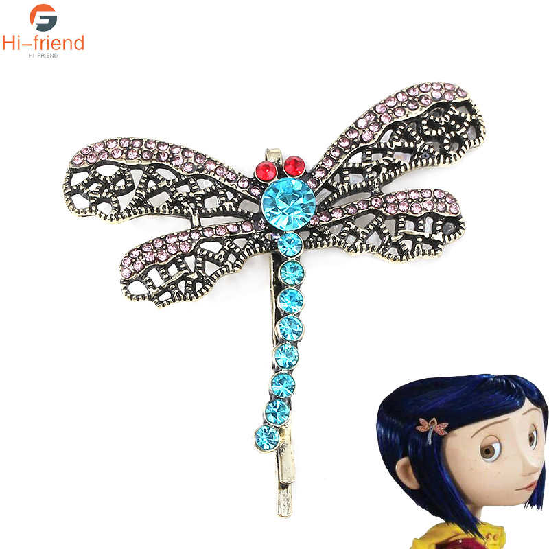 New Movie Coraline The Secret Door Coraline Dragonfly Hair Clip Queen Bee Hairwear Hair Comb Brooch Pin Girls Women Jewelry Pendant Necklaces Aliexpress