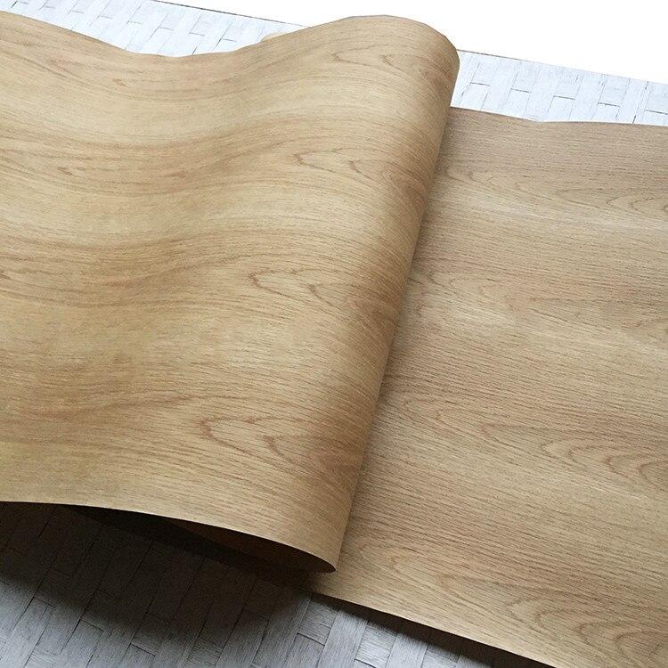 2x intégrer placage naturel bois véritable décoratif tranché placage pour meubles 60cm x 2.5m support papier Kraft blanc chêne C/C