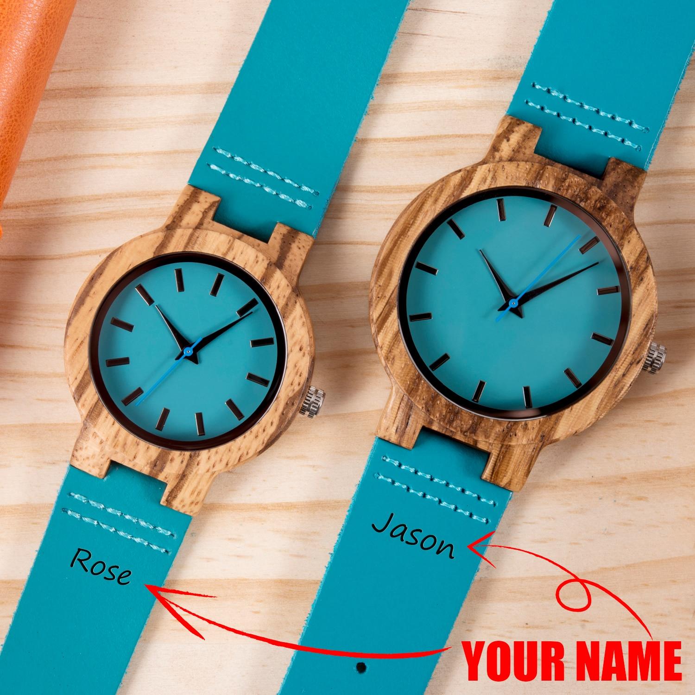 Couple Watch BOBO BIRD парные часы Personalized Wooden Watch Men Women Quartz Watches Valentine's Day Anniversary Gift For Him