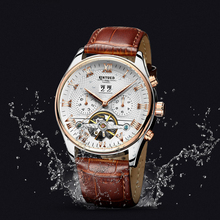 Genuine KINYUED, Tourbillon Multi-function Automatic Men's Hollow Mechanical