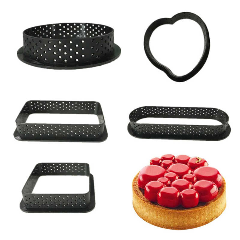 Bakeware Mold Ring 3D Round Cake Molds Silicone Baking Mould Kitchen Dessert Cake Decorating Tools Non Stick DIY Circle Cutter
