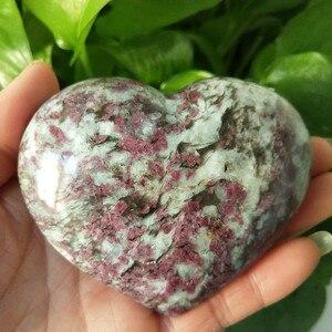 Natural plum blossom tourmaline heart crystal stone mineral specimen crystal ston(China)