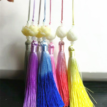 2pcs brooch accessories female decorations handmade tassel pendant gradient color DIY pendant accessories