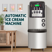 36 42L/H Ice cream machine commercial Automatic Commercial ice cream maker High puffing pre cooling function 3300W