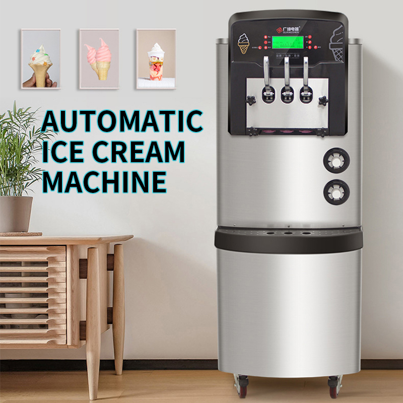 36-42L/H Ice cream machine commercial Automatic Commercial ice cream maker High puffing pre-cooling function 3300W