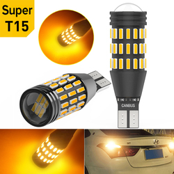 2X T15 W16W 912 921 Car Reverse Light Canbus LED Lamp for Hyundai Tucson 2017 Creta Kona IX35 Solaris Accent I30 Elantra Amber