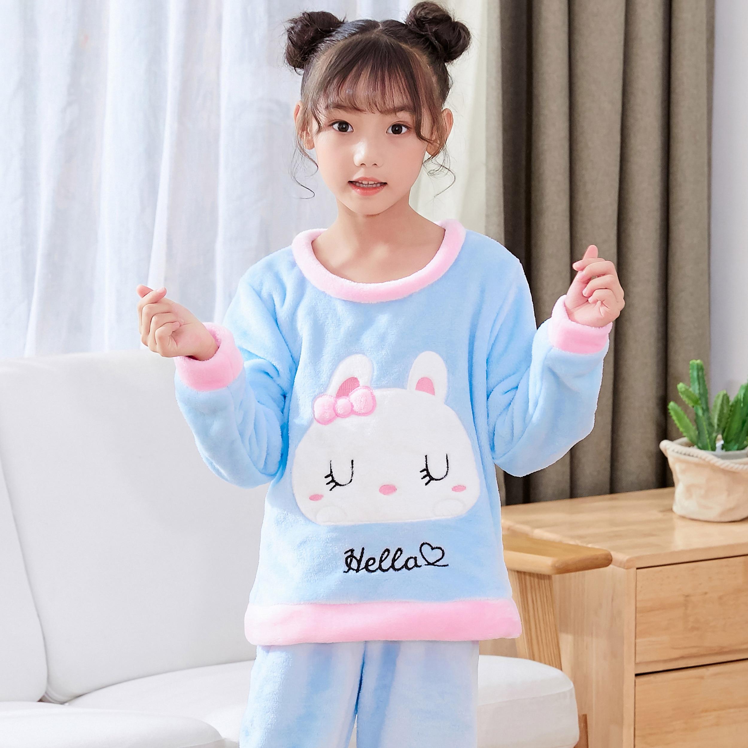 Новинка года; зимняя детская флисовая Пижама; теплая фланелевая одежда для сна; домашняя одежда для девочек из кораллового флиса; детская пижама; домашняя одежда; Пижама для мальчиков - Цвет: model 5