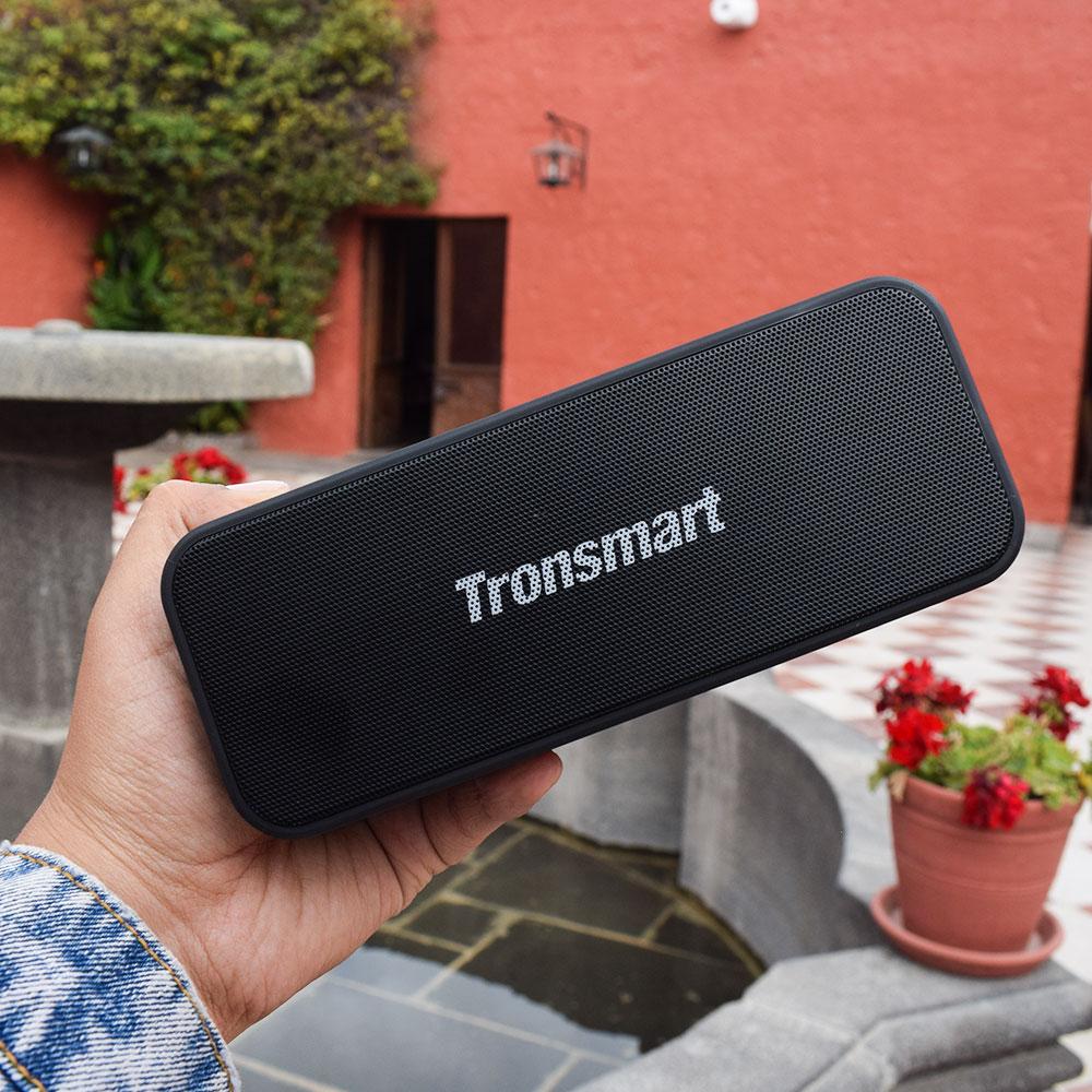 Tronsmart T2 Plus Bluetooth 5.0 Speaker 20W Portable Speaker 24H Column IPX7 Soundbar with NFC, TWS,Voice Assistant,Micro SD (15)