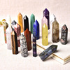 30 Color Natural Stones Crystal Point Wand Amethyst Rose Quartz Healing Stone Energy Ore Mineral Crafts Home Decoration 1PC 1