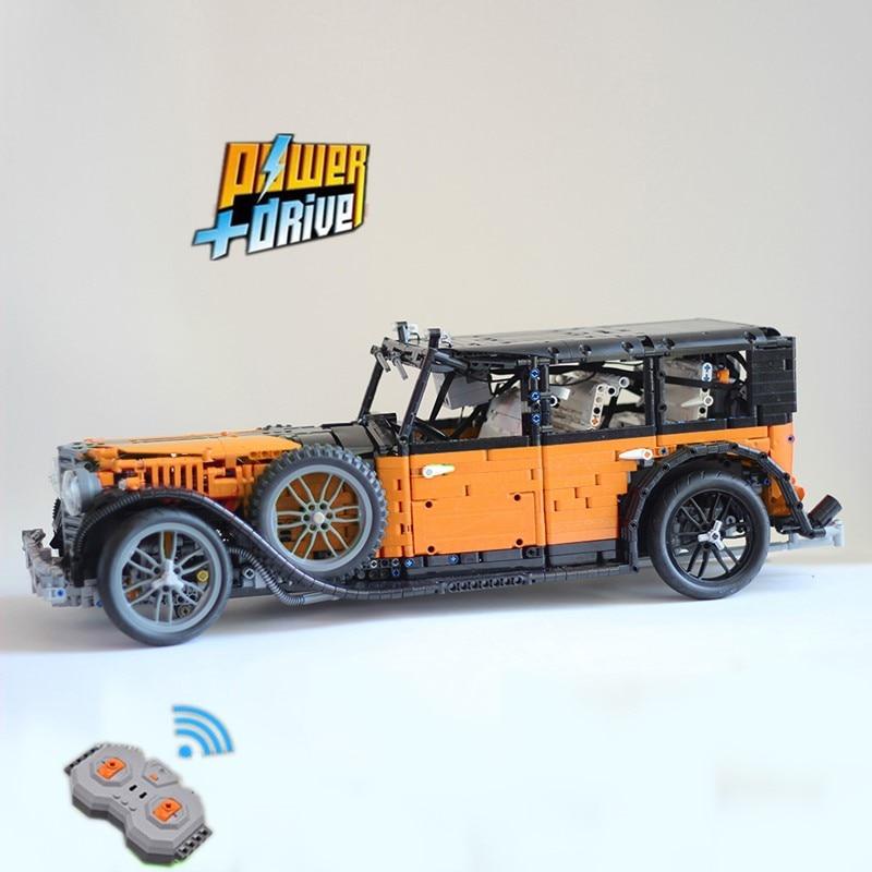 LeGINGlys building block technology moc-14807 grosser Mercedes Benz 770 master car remote control assembling toy model Boy Gift
