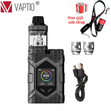 Vaptio Wall Crawler KIT FROGMAN XL TANK LED Vaporizer 5.0ML 80W Vape Mod TCR 1.3inch Screen E Cigarettes Vape Pen Box Mod Kit 2017 newest 100% original tesla warrior 85w box mod vaporizer teslacigs warrior 85w vape pen e cigarettes mod vapor hookah