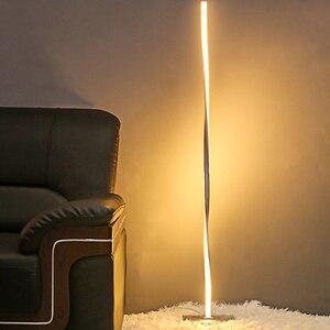 Image 1 - LED רצפת סלון חדרי מודרני רצפת אור עומד מוט אור עבור חדרי שינה משרד בהיר Dimmable עכשווי 48 אינץ