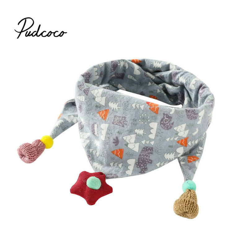 Fashion Scarf For Girls Boy Shawls Animal Print Triangle Bandana Luxury Handkerchief Princess Winter Warm Scarf Tassel Design
