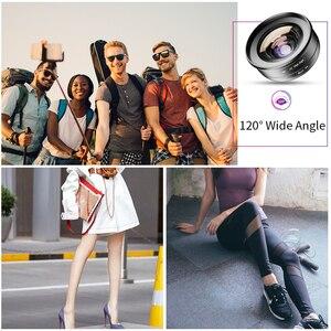 Image 3 - APEXEL 2in1 HD kamera telefon Lens kiti 120 derece 4K geniş açı lens + 10X makro lens iPhone 11 Samsung xiaomi tüm akıllı telefon