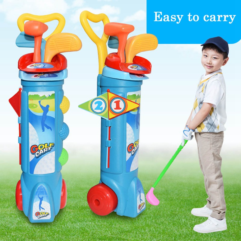Child Golf Set Educational Sports Training Suit Children Plastic Mini Golf Club Games Toys Kids Outdoor Casual Golf Ball Gift