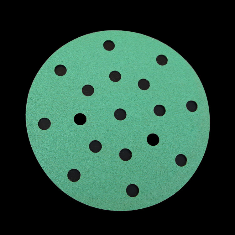 17 Hole SNAD Paper Disk Self-Adhesive Round Plates Polishing Sandpaper Napper Polishing Self-Adhesive Flocked Dry Sandpaper Poli