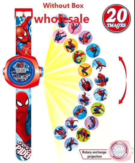 Wholesale Princess Spiderman Kids Watches Projection Cartoon Pattern Digital Children Watch For Boys Girls Display Clock Relogio