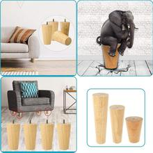 1 Piece of Solids Wood Height Adjustable Tilt Furnitures Feet, Sofa Table Feet, Cabinet Feet With Connector And Screws