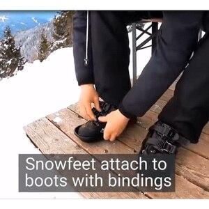Image 3 - Лыжные коньки, зимняя Лыжная обувь, Мини Короткие скейтборды, обувь с регулируемыми застежками, легкое хранение, зимние мини портативные сноуборды