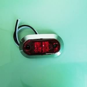 Image 3 - 10Pcs 12V 24V 사이드 마커 라이트 자동차 앞 후면 범퍼 장식 램프 트레일러 트럭 보트 크롬 클리어런스 라이트