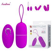 Pretty love-vibrador de bala con Control remoto para mujeres, huevo vibrador inalámbrico de 12 velocidades, producto sexual para adultos, clítoris, Juguetes sexuales