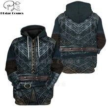 PLstar Cosmos Viking Warrior Tattoo Pullover Tracksuit casual 3D Print Zipper/Hoodie/Sweatshirt/Jacket/Men's Women style-78