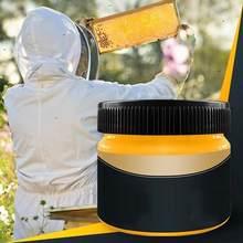 Cera de madera para el cuidado de la madera, cera de abejas para el cuidado de la madera, limpieza pulida, impermeable, resistente al desgaste, cera para muebles, 1 Uds.
