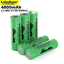 2021 LiitoKala Lii 48S 3,7 V 21700 de 4800mAh li Ion batería recargable 9.6A de 2C tasa de descarga ternario de baterías de litio