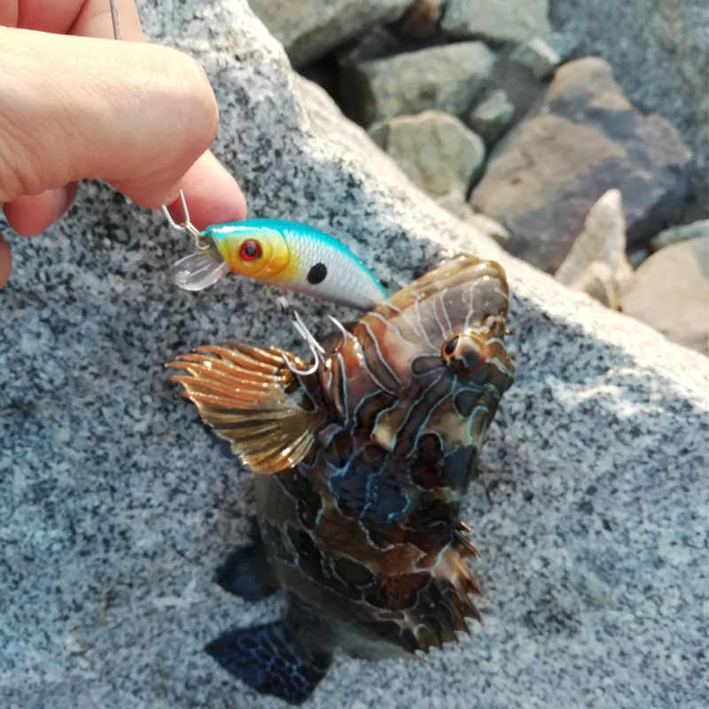 1 قطعة طعم سنارة صيد cranbait الطعم الثابت ضيق تمايل بطيئة غرق Jerkbait الصيد معالجة