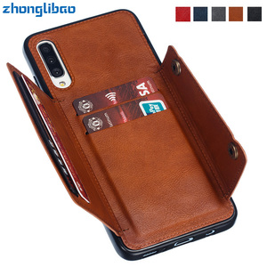 For Samsung A21 A51 A71 A81 A91 A10 A20 A30 A40 A50 M10 M20 M30 A50S Wallet Case Leather Card Holders Case Cover for Samsung A50(China)