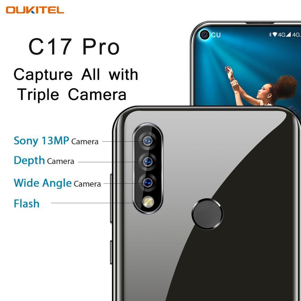 """OUKITEL C17 Pro 6.35"""" Android 9.0 Mobile Phone 4G RAM 64G ROM MTK6763 Octa Core Dual 4G LTE Rear Triple Cameras Smartphone"""