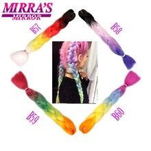 """Mirra Spiegel 5 PCS Ombre Vlechten Haar Haak Haarverlenging 24 """"100 g/pak Synthetische Jumbo Vlechten Hair Extension groen Bruin"""
