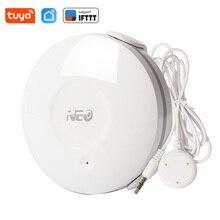 Датчик утечки воды NEO Wi Fi, беспроводной детектор утечки воды Tuya, уведомление через приложение Smart Life, сигнализация утечки
