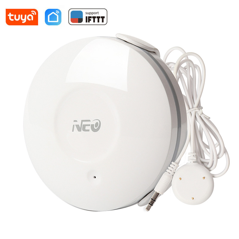 NEO WiFi Water Flood Sensor Wireless Water Leakage Detector Tuya Smart Life App Notification Alerts Leak Alarm