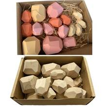 16 шт детские деревянные камни укладка игры строительный блок
