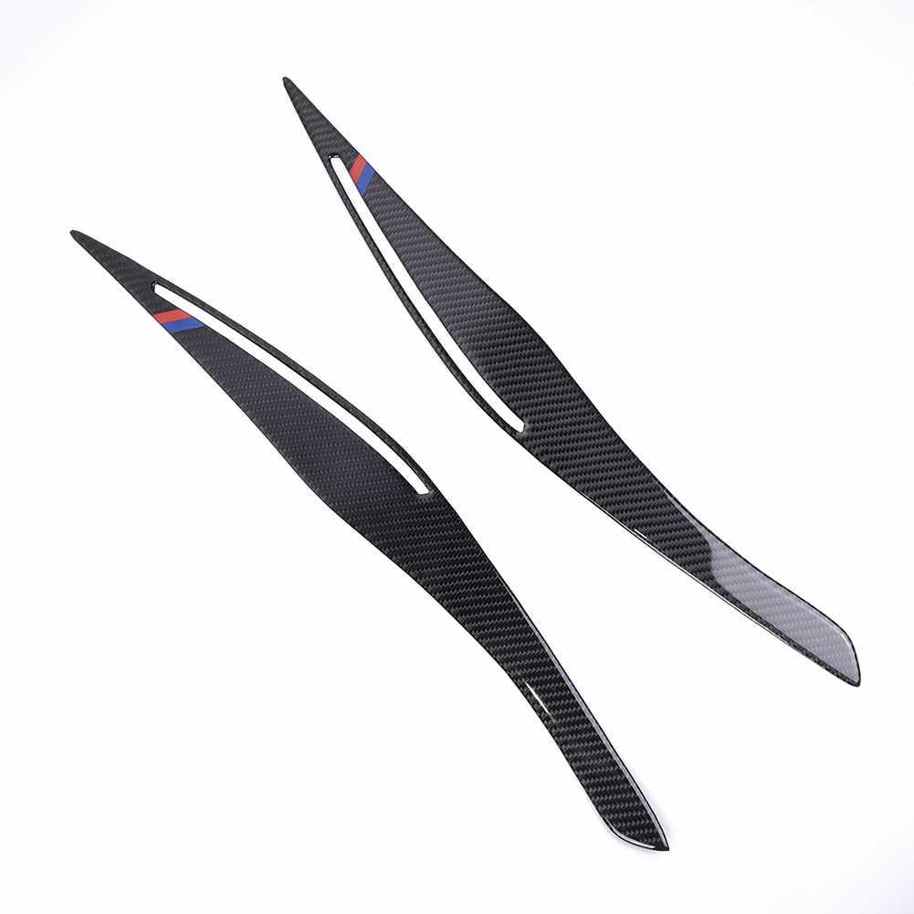 1 Cặp Đèn Pha Lông Mày Sợi Carbon Bộ Bộ Phụ Kiện Cho Xe BMW E90 3 2005-2012 Thay Thế