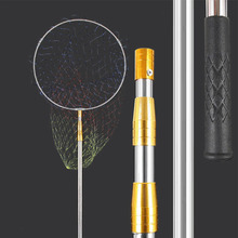 Fish-Landing-Net Telescoping-Pole Extending Cast-Carp Aluminum with 3-Sections