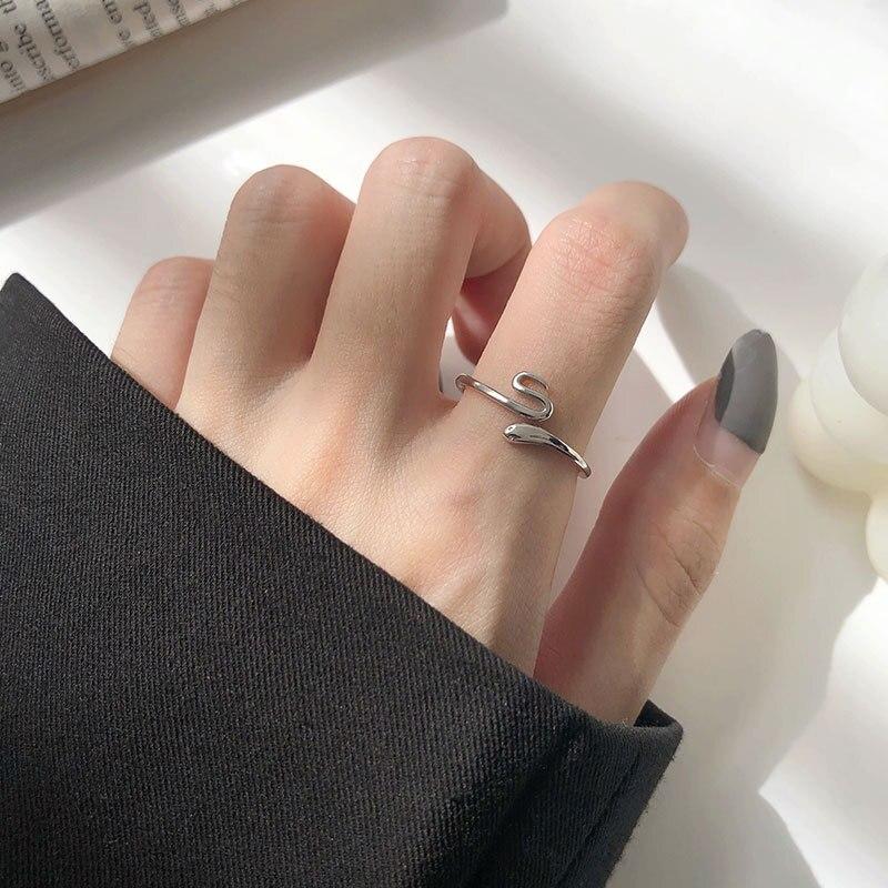 Купить leouerry 2020 новые открытые кольца из стерлингового серебра