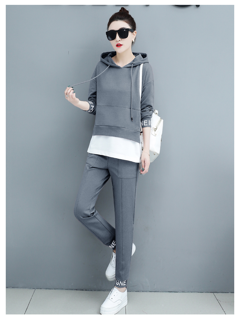 Autumn Sport Two Piece Sets Tracksuits Outfits Women Plus Size Hooded Sweatshirts And Pants Korean Casual Fashion Matching Sets 56