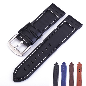 цена на Watch Strap 2020 High Quality Handmade Genuine Leather Watchbands 18mm 20mm 22mm 24mm Watch Band