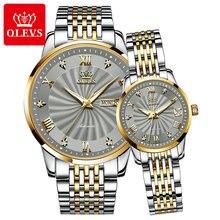 Paar Horloge Oelvs Brand Luxe Automatische Mechanische Horloge Roestvrij Staal Waterdichte Klok Relogio Masculino Paar Gift 6630