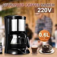0.65L Electric Drip Coffee Maker Household Coffee Machine 6 Cup Tea Coffee Pot 220V|Coffee Makers| |  -