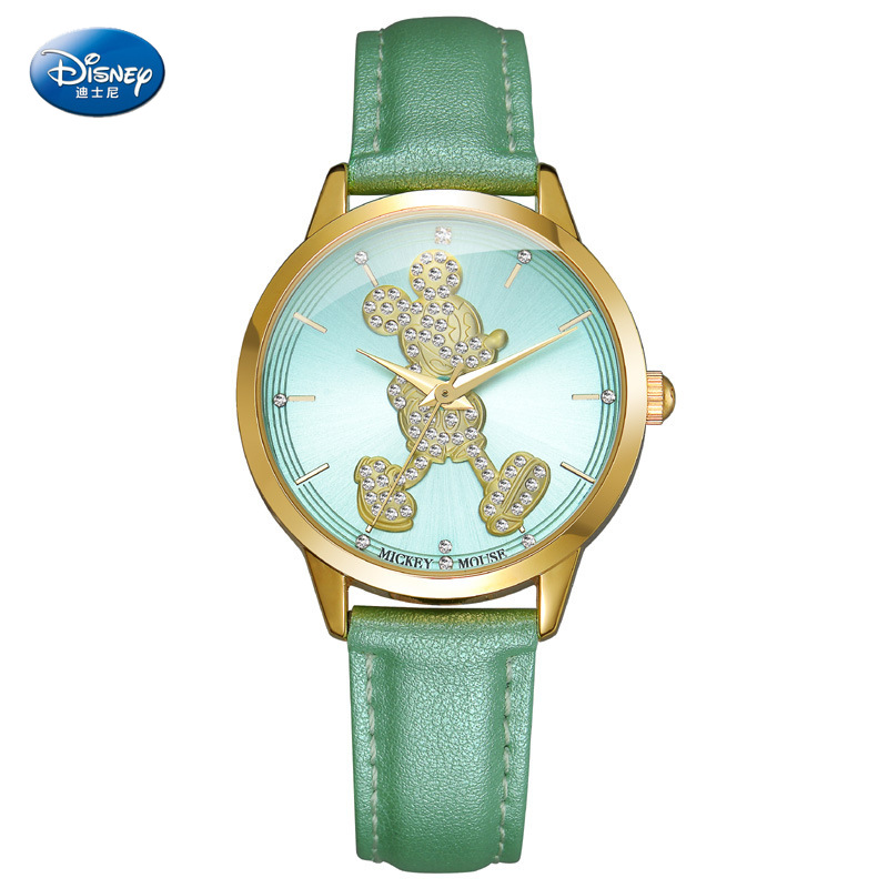 Disney Children's Quartz Wristwatch Boy Girl Watch And Gift Cute Trend Personality Mickey Mouse Kids Watch Water Resistant Alloy