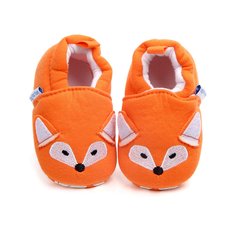 Newborn Baby Girl Boy Cartoon First Walkers Home Shoes Soft Sole Indoor Slippers Infant Crib Shoes