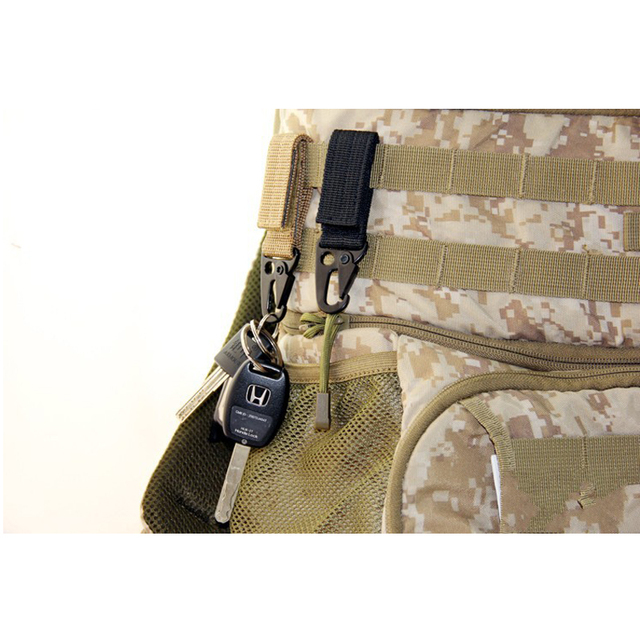 New Tactical Carabiner Backpack Hooks Olecranon Molle Hook Survival Gear Nylon Keychain Outdoor Hunting Clothing Accessories 5