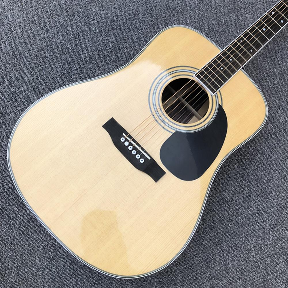 Solid Spruce top 41 inch classic acoustic Guitar Factory hardmade rosewood back 35 style Acoustic Guitar,Free shipping
