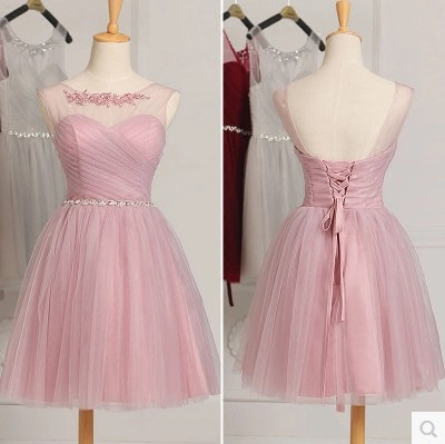 New Bridesmaid Dress Short Creme Elegant Spring And Autumn Wedding Party Dress Maid Of Honor Dresses For Weddings Plus Size