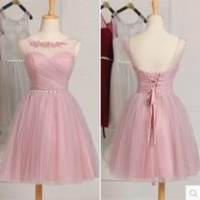 New Bridesmaid Dress Short Creme Elegant Spring and Autumn W